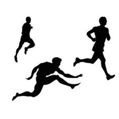 Athlete clipart track and field. Athletics silhouette vector sports