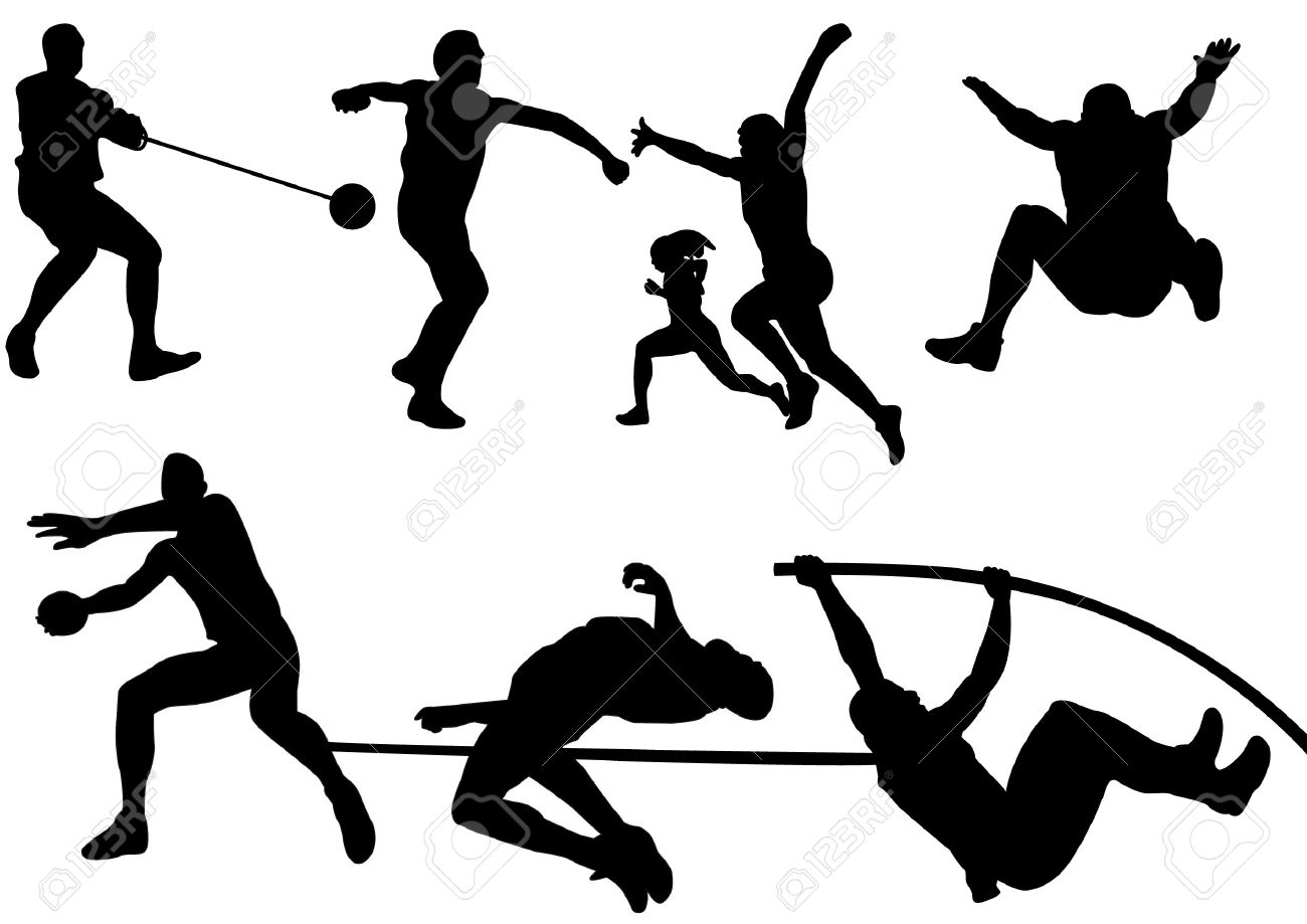 Free download best . Athlete clipart track and field