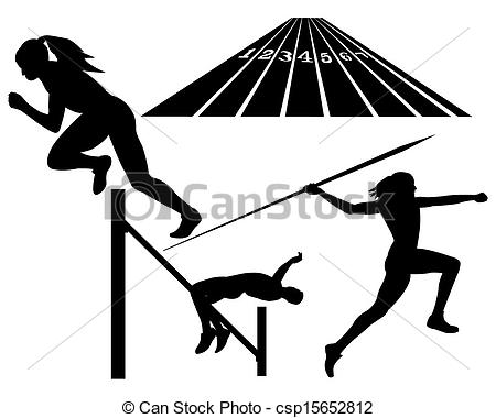 . Athlete clipart track and field