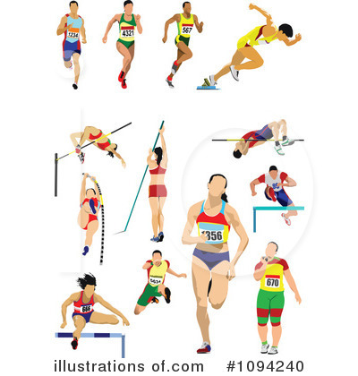 collection of hurdles. Athlete clipart track and field