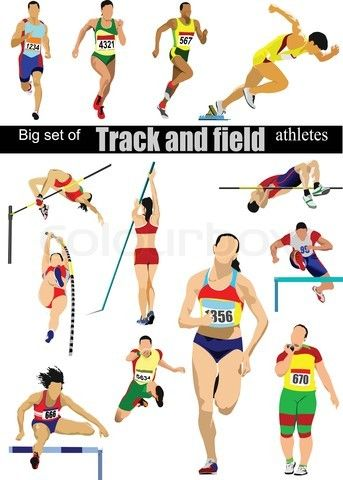 Track and field fan. Athletic clipart athletics event