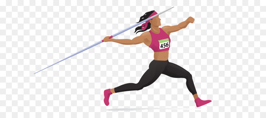 Athlete clipart transparent. Javelin throw track and