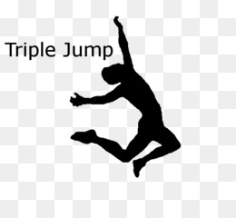 Athlete clipart triple jump. Long track field jumping