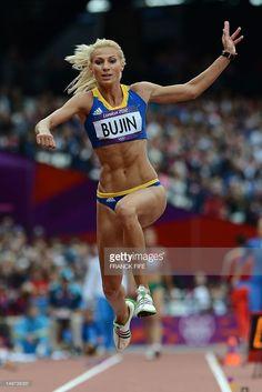 Cristina bujin romania long. Athlete clipart triple jump