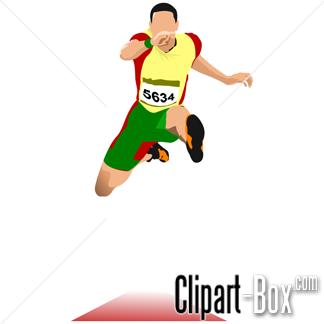 . Athlete clipart triple jump