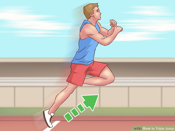 How to steps with. Athlete clipart triple jump