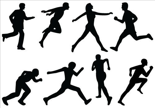 Athletics silhouette clip art. Athletic clipart athletic person