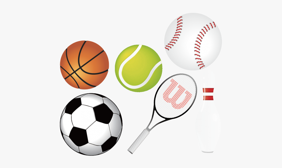 Athletic clipart. Sports equipment director creative