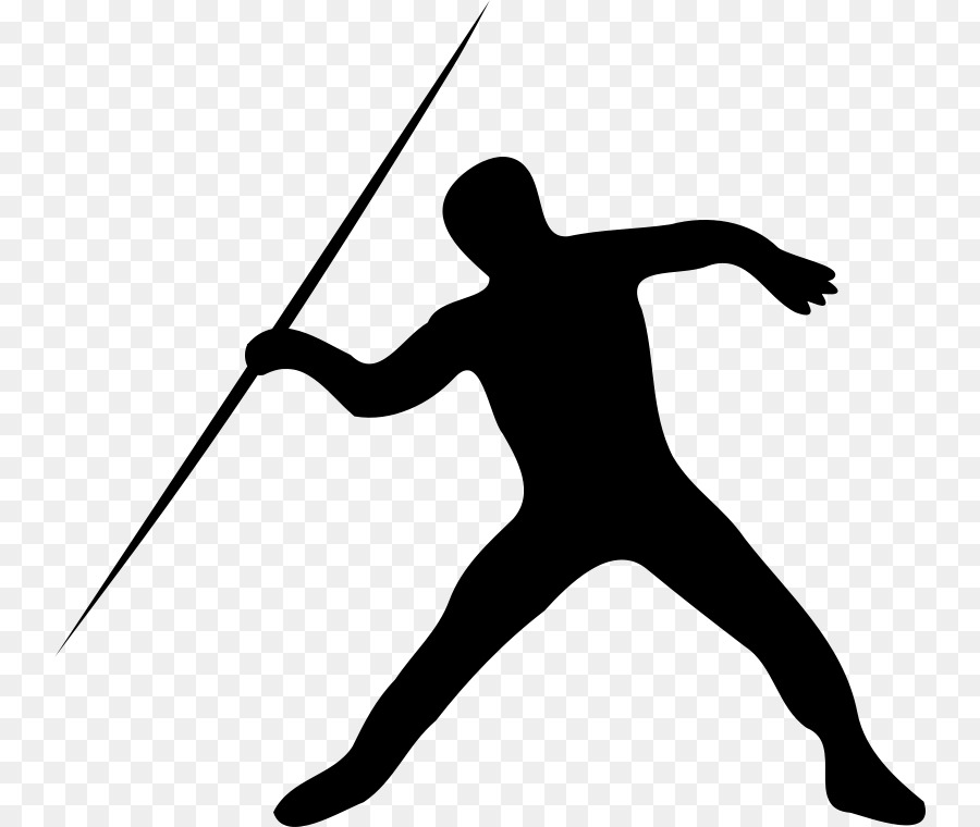 Javelin throw track and. Athletic clipart