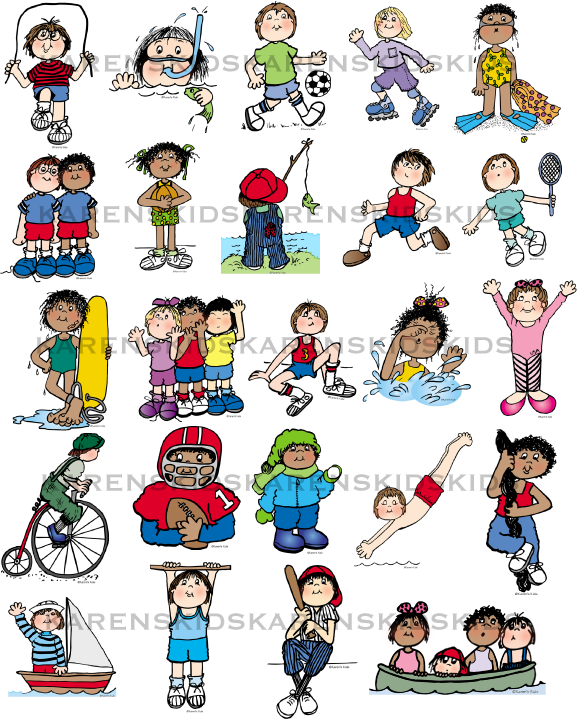 Athletic clipart athletic meet. Sports kids downloadable