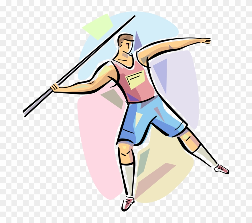 Athletic clipart athletic meet. Track competitor throws pinclipart