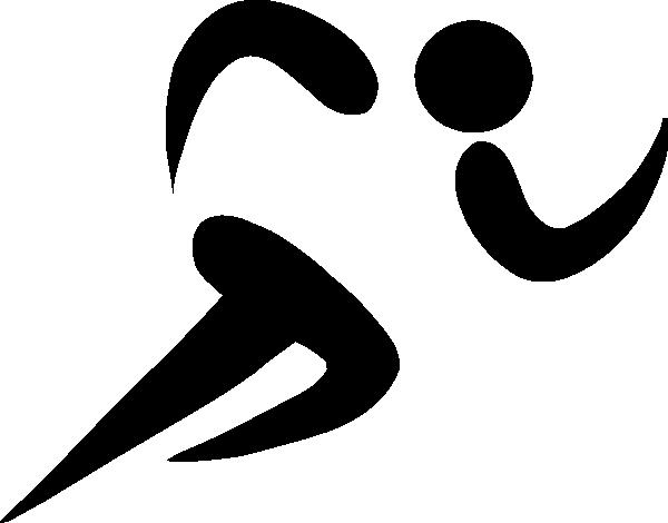 Athlete clipart athelete. Olympic sports athletics pictogram