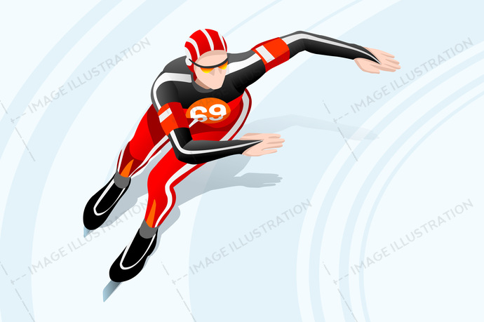 Winter sports speed skating. Athletic clipart athletics games
