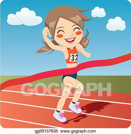 Eps illustration athlete woman. Athletic clipart athletics games