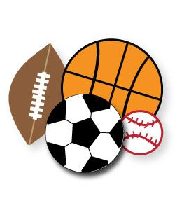 Athletic clipart ball. Free sports for parties