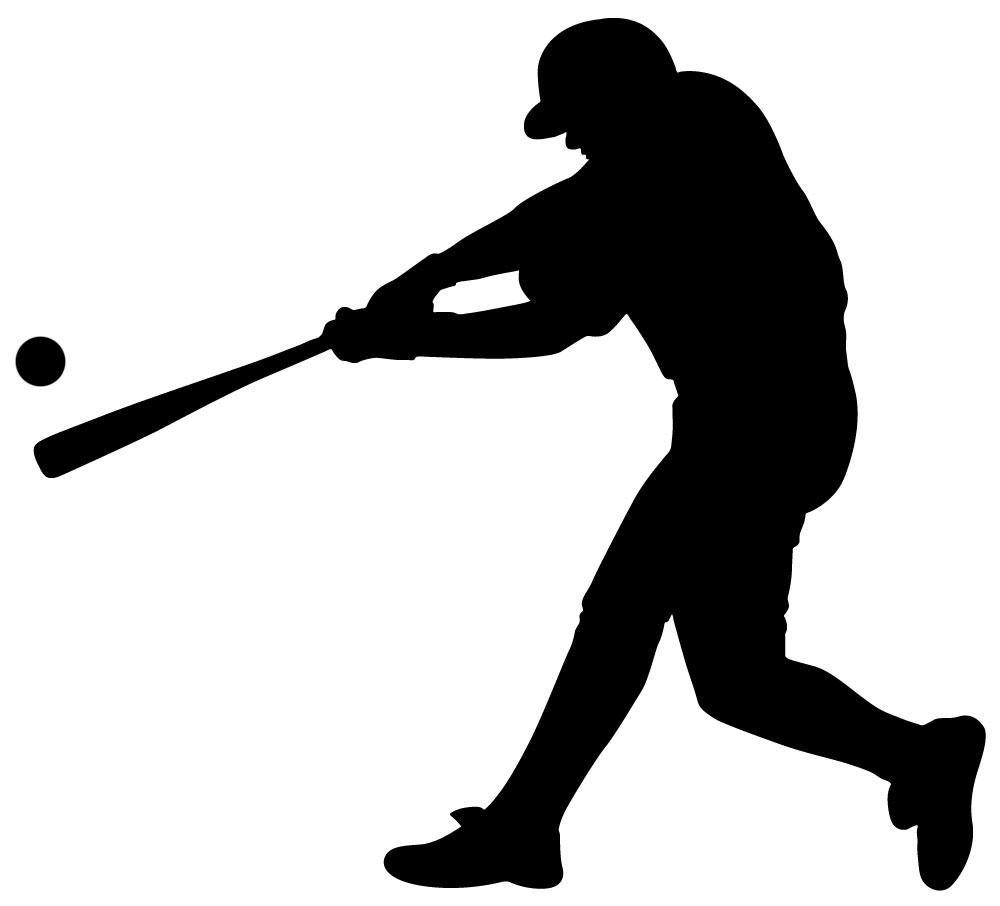 Wallmonkeys sports silhouette pinterest. Athletic clipart baseball