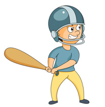 Search results for clip. Boys clipart baseball