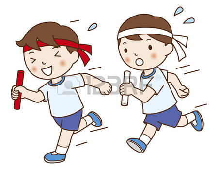Winning sports meet pencil. Athletic clipart boys