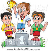 Athletics cilpart stylist design. Athletic clipart boys