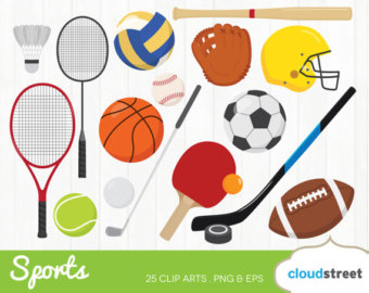 Athletic clipart cute. Sport etsy buy get