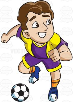 A smiling tennis player. Athletic clipart cute