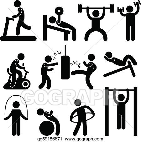 Vector stock gym gymnasium. Athletic clipart exercise