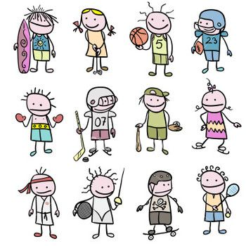 best extracurricular activities. Athletic clipart extra curricular activity