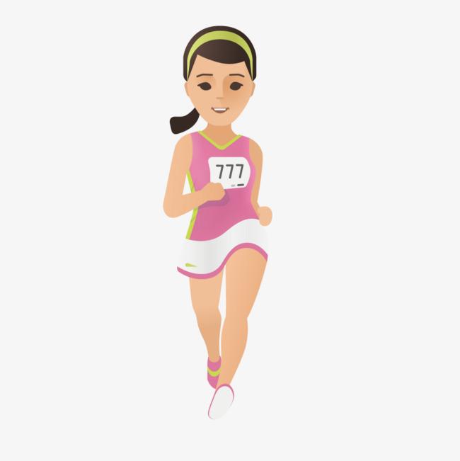 Athletic clipart female athlete. Cartoon athletes vector women