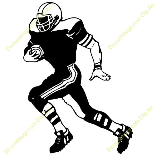 Athletic clipart football. Sports silhouette clip art