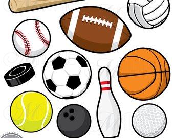 Balls clipart vector. Sports clip art download