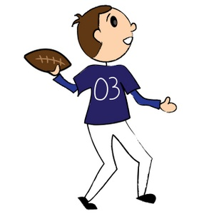 Athletic clipart football. Playing image player tossing