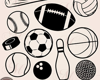 Athletic clipart football. Sport clip art png