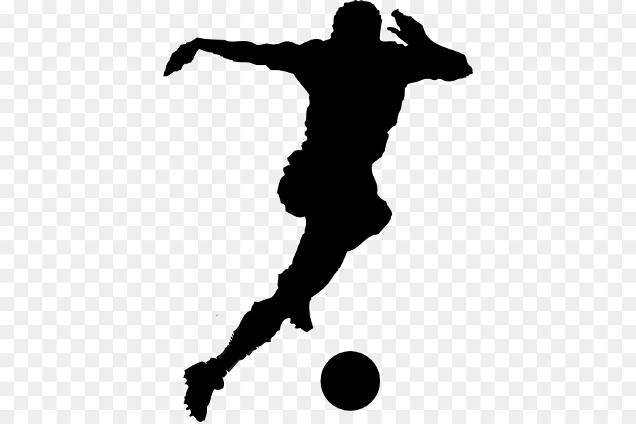 American player silhouette at. Athletic clipart football