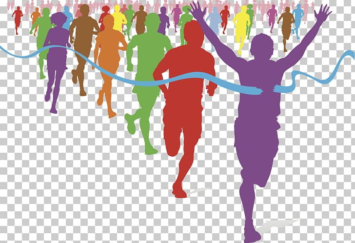 The color running racing. Athletic clipart fun run