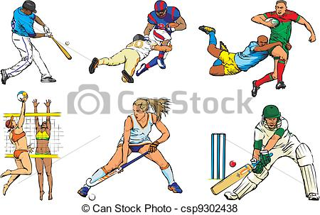 Sports . Athletic clipart outdoor sport