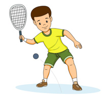 Athletic clipart outdoor sport. Sports free racquetball to