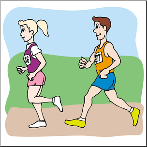 Athletic clipart race. Clip art kids running