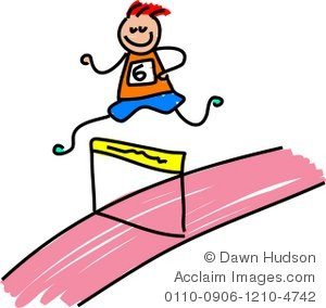 Illustration of little boy. Athletic clipart race
