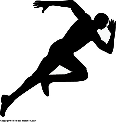 Athletic clipart runner. Shaow free collection download