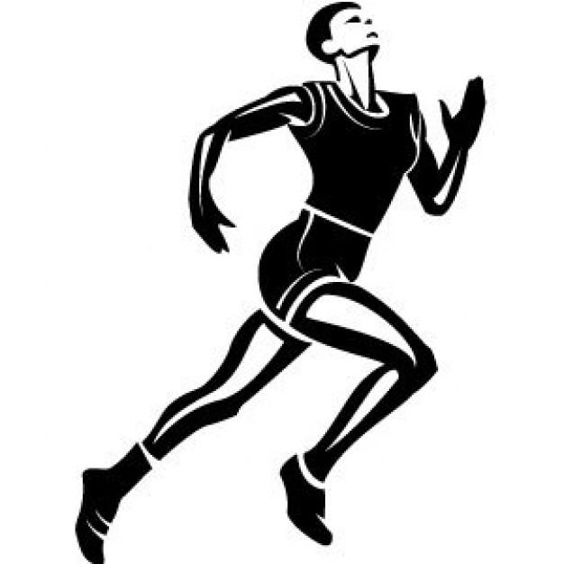 Athletic clipart runner. Black female athlete running