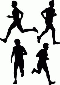 Cross country clip art. Athletic clipart running man