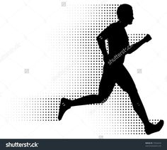 Athletic clipart running man. Silhouettes physical education pinterest