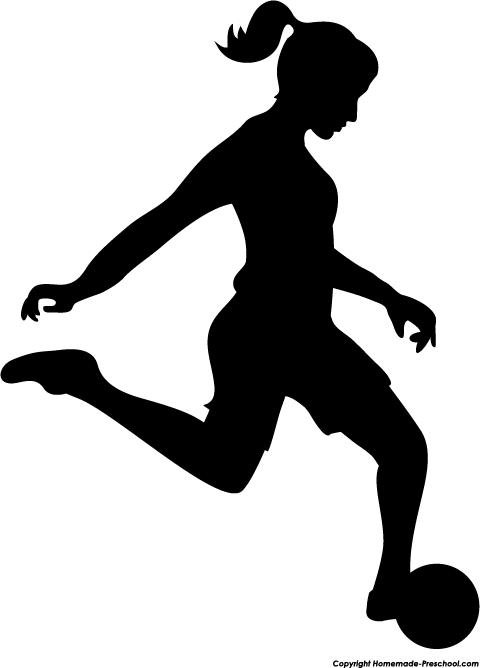 Athletic clipart silhouette. Girls soccer quilts pinterest