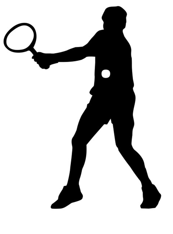 Athletic clipart silhouette. Different kinds of sports