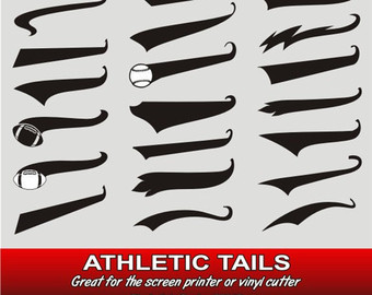 Athletic clipart tail. Free tails vector illustration