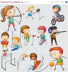 Athletic clipart youth sport. Sale kids for personal