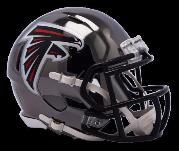 Chrome riddell speed replica. Atlanta falcons helmet png