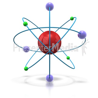 An science and technology. Atom clipart animated