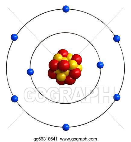 Atom clipart atom structure. Stock illustration atomic of