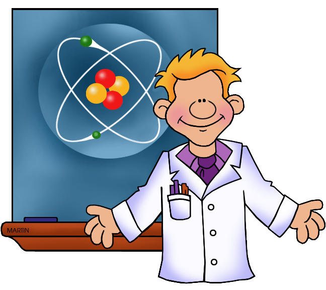 Atom clipart atom structure. Science clip art by
